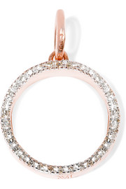 Monica Vinader Naida Circle rose gold-plated diamond pendant
