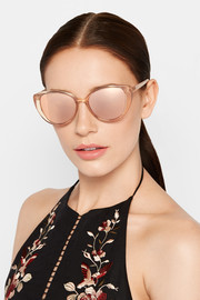 Linda Farrow Cat-eye acetate mirrored sunglasses