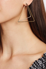 Gold and silver-plated earrings
