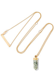Charmed gold-plated marble necklace