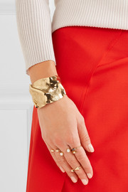 Folded gold-plated cuff