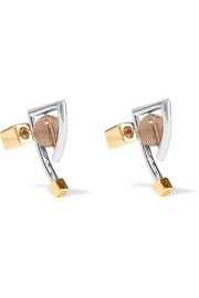 Frank rhodium-plated quartz earrings