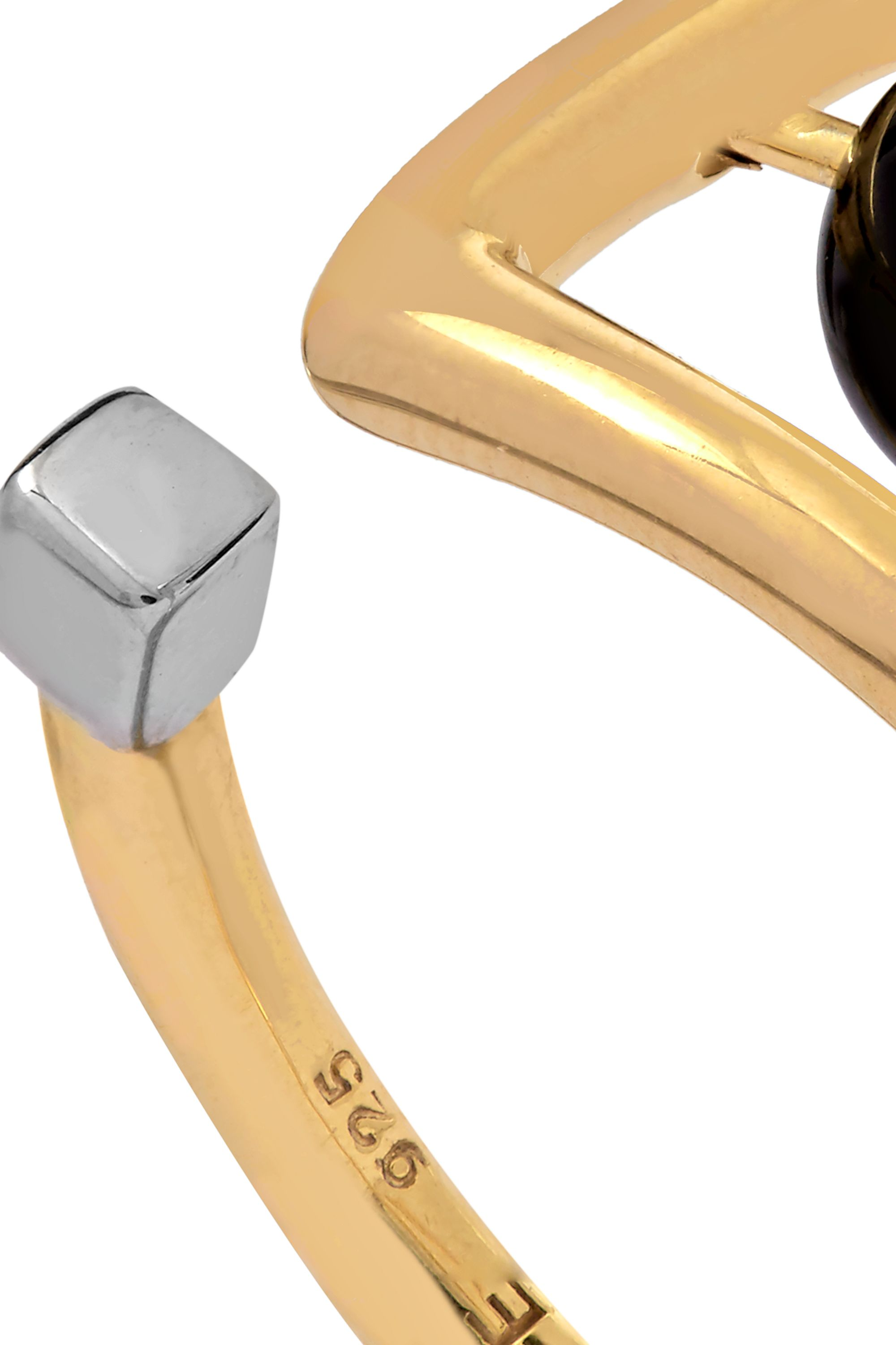 URiBE Zaha gold-plated agate ring
