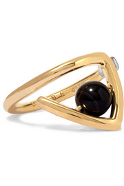 Zaha gold-plated agate ring