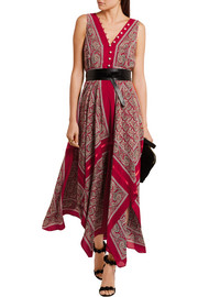 Clemmie paisley-print silk maxi dress