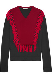 Ming fringed wool sweater