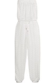 Stella strapless crocheted jumpsuit