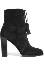 Odile leather-trimmed suede boots