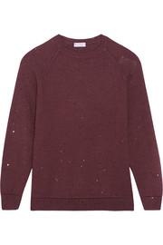 Sequin-embellished cashmere and silk-blend sweater