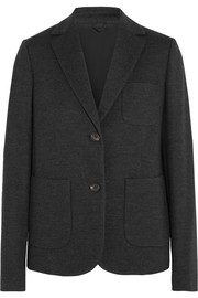 Wool and cotton-blend blazer