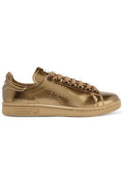 + Raf Simons Stan Smith perforated metallic leather sneakers