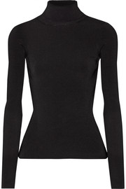 Renner cutout ribbed stretch-knit turtleneck top