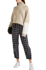 Elizabeth and James Fritz cropped checked crepe tapered pants