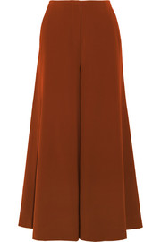 Delany washed-satin wide-leg pants