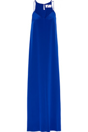 Cutout silk-crepe maxi dress