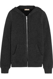 Cashmere-blend hooded top