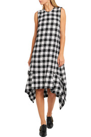 Victoria, Victoria Beckham Draped printed stretch-crepe dress