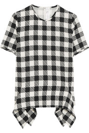 Victoria, Victoria Beckham Gingham stretch-crepe top