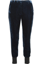 3.1 Phillip Lim Stretch wool-trimmed velvet track pants