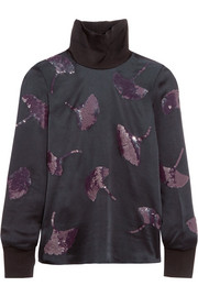 3.1 Phillip Lim Sequin-embellished satin top