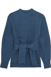 3.1 Phillip Lim Tie-front brushed cotton-blend sweater