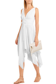 Norma Kamali Goddess asymmetric stretch-jersey dress