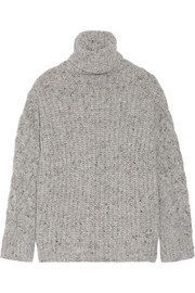 Adam Lippes Chunky-knit wool and cashmere-blend turtleneck sweater