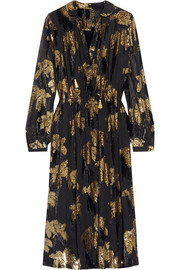 Adam Lippes Flocked jacquard midi dress