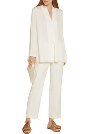 Stretch-gabardine straight-leg pants