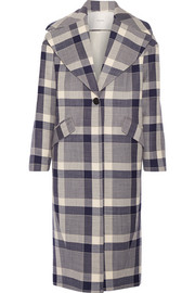Adam Lippes Plaid wool-blend coat