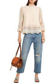 M.i.h Jeans Esbaran guipure lace top