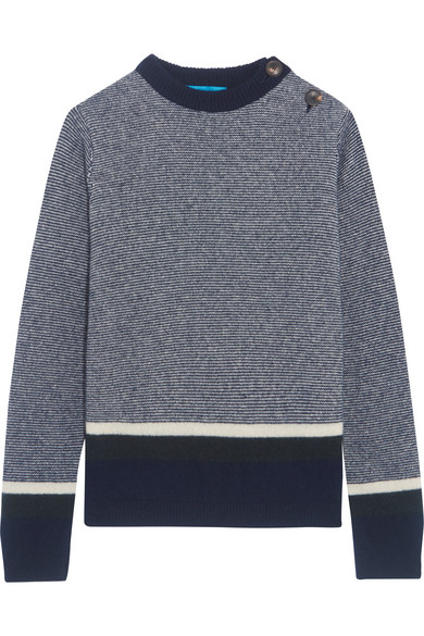 M.i.h Jeans - Striped Wool-blend Sweater - Blue