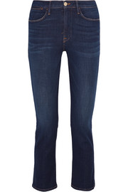 Le High cropped mid-rise slim-leg jeans