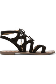Gemma lace-up suede sandals
