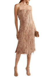 Jason Wu Feather-embellished silk-organza dress