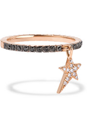 Diane Kordas 18-karat rose gold diamond ring