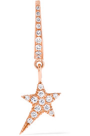 Diane Kordas 18-karat rose gold diamond earring