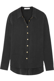 Pierre Balmain Washed-silk shirt