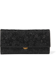 Yasmeen metallic floral-brocade clutch
