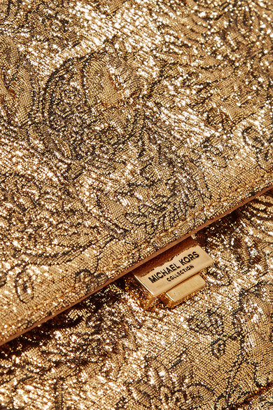 e3cfce677fbf Michael Kors Collection. Yasmeen small metallic brocade shoulder bag.  345.  Zoom In