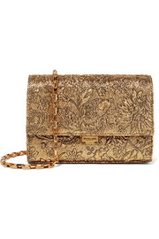 Yasmeen small metallic brocade shoulder bag