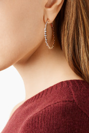 Ippolita Glamazon® Starlet 18-karat rose gold diamond hoop earrings