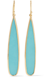 Ippolita Rock Candy® 18-karat gold turquoise earrings