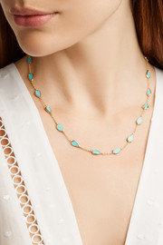 Ippolita Rock Candy® 18-karat gold turquoise necklace
