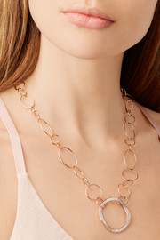 Ippolita Glamazon® Stardust 18-karat rose gold diamond necklace