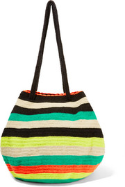 Caro crocheted cotton shoulder bag
