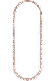 Larkspur & Hawk Bella Rivière rose gold-dipped quartz necklace