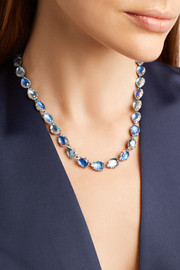 Larkspur & Hawk Caterina Rivière rhodium-dipped quartz necklace