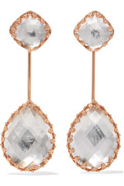 Larkspur & Hawk Antoinette rose gold-dipped quartz earrings