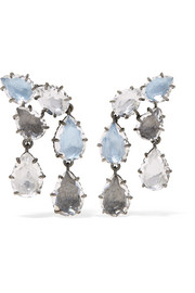 Larkspur & Hawk Caterina rhodium-dipped quartz earrings